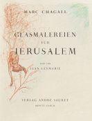 Marc Chagall - Glasmalereien für Jerusalem (mit sign. Orig.-Zeichnung)