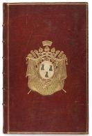 Jean Baptiste de Machault d'Arnouville - Estat alphab�tique. Manuskript im frz. Wappeneinband