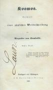 Alexander von Humboldt - Kosmos. 5 Bde. und 2 Atlas-Bde.