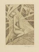 Heinrich Vogeler - Marie Adelheid, Prinzessin Reu�. Gott in mir. 1921. - Widmungsex. d. Verf.