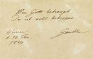 Johann Wolfgang von Goethe - 1 Autograph. 1814