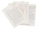 Carl Zuckmayer - Brief mit Unterschrift (4 Blatt).