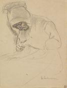 Max Liebermann - Sign. Studie (teils mit Tusche laviert) zum Gem�lde