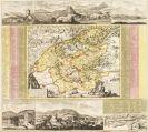 Atlanten - 2 Atlasfragmente: �sterreich, M�hren, Ost- und S�ddeutschland. 58/29 Bll.