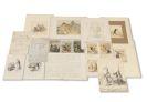 Theodor Hosemann - Konvolut Zeichnungen, Autographen, Manuskripte und Andrucke