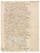 Friedrich II. der Große - Eigh. Brief m. U. in Versen.