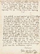 Johann Samuel König - Eigh. Brief, um 1740