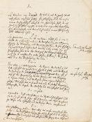 Moses Mendelssohn - Eigh. Manuskript.
