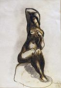 Fritz Wotruba - Sign. Orig.-Zeichnung