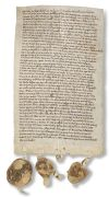 Pommern - Urkunde Pommern auf Pergament, 1327.