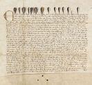 Edward III. - Schenkungsurkunde auf Pergament.