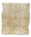 Edward Prince of Wales - Urkunde auf Pergament.