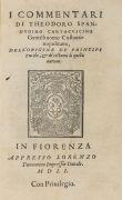 Theodoro Spandugino - I commentari dell'origine de principi Turchi