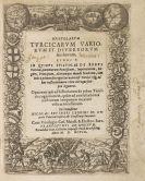 Nikolaus Reusner - Epistolarum Turcicarum.