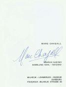 Marc Chagall - 2 Ausst.-Kataloge (1 davon signiert)