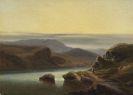 Robert Kummer - Schottische Landschaft mit Fischer am Ufer
