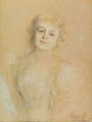 Franz von Lenbach - Portr�t einer jungen Dame
