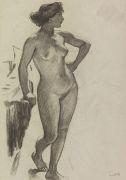 Ludwig von Hofmann - Stehender weiblicher Akt