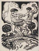 Ludwig von Hofmann - 4 Bll: Ekstase. Felsschlucht. Reigen. Liebespaar