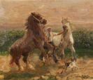 Otto Dill - Durchgehende Pferde