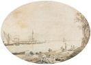 Christoph Heinrich Kniep - Blick auf den Hafen von Neapel mit dem Vesuv am Horizont
