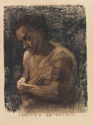 Käthe Kollwitz - Halbfigur einer Frau mit verschränkten Armen