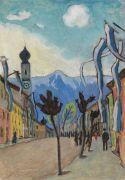 Gabriele Münter - Murnau, Hauptstrasse am Sonntag im Mai