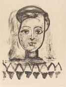 Pablo Picasso - Jeune femme au corsage � triangles