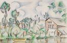 André Lhote - Maison au bord de la rivière