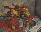 Georg Tappert - Stillleben mit Blumenvase und Äpfeln