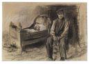 Max Liebermann - Bauer an der Wiege - Der Witwer