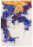 Sam Francis - Over orange