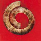 Bernard Aubertin - Dessin de feu sur tableau rouge