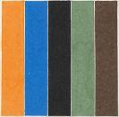 Ellsworth Kelly - Coloured Paper Image XXI (Orange Blue Black Green Brown)