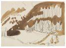 Ernst Ludwig Kirchner - Landschaft bei Davos ( (BERGLANDSCHAFT IM WINTER, BEWALDETE BERGLANDSCHAFT))