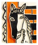 Fernand L�ger - Le Cheval sur fond orange