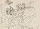 Gino Severini - Composition (Studie zu Le luth, fen�tre sur Meudon)