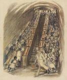 Ludwig Meidner - Londoner U-Bahn-Rolltreppe