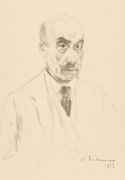 Max Liebermann - Selbstporträt als Siebzigjähriger