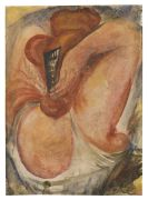 Paul Kleinschmidt - Weiblicher Halbakt, das Haar mit einem Steckkamm richtend