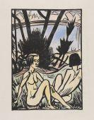 Erich Heckel - Zwei Sitzende am Strand