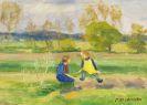 Otto Modersohn - Spielende Kinder