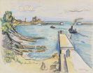 Hermann Max Pechstein - Hafen im Golf von Gascogne