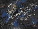 Fred Thieler - Komposition mit Wei�, Blau und Schwarz