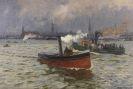 Friedrich Kallmorgen - Heranziehendes Wetter im Hamburger Hafen
