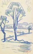 Dorothea Maetzel-Johannsen - Landschaft mit Bäumen