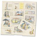 Irene Schreiber - Das Kaninchen Bimbambinchen. Originalentwürfe. 2 Teile.