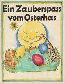 Fritz Franke - Ein Zauberspass vom Osterhas. Original-Typoskript m. Orig.-Zeichnungen.