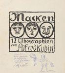 Alfred Kubin - Masken, 12 Lithografien