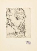 Egon Schiele - Katalog der Internationalen Schwarz-Weiß Ausstellung. 1921. Mit Orig.-Radierung von E. Schiele.